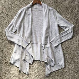 lou & grey // Open Waterfall Linen Blend Cardigan